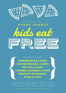KIDS EAT FREE - Sunday Dinner