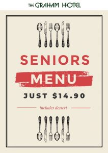 SENIOR MEAL DEALS - Lunch