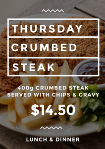 THURSDAY CRUMBED STEAK