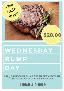 WEDNESDAY LUNCH RUMP